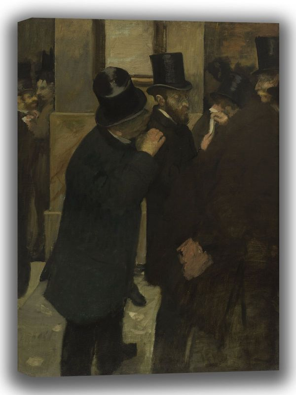 Degas, Edgar: Portraits at the Stock Exchange. Fine Art Canvas. Sizes: A4/A3/A2/A1 (003757)